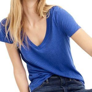 J crew blue vintage cotton vneck T-shirt l2169